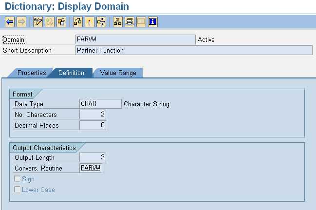 Display Domain Properties