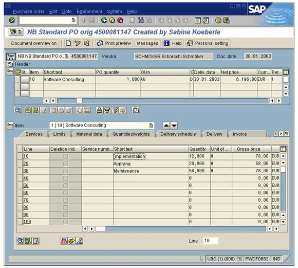 ABAP Pending Purchase Orders Report