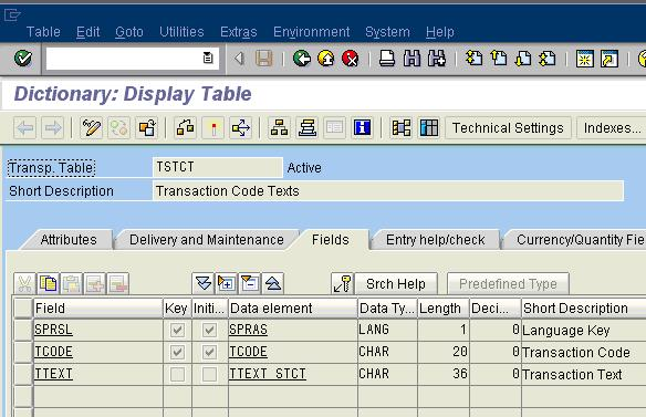 SAP Tables Part II
