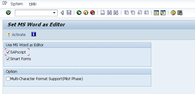 Disable MS Word as default editor in Smartforms